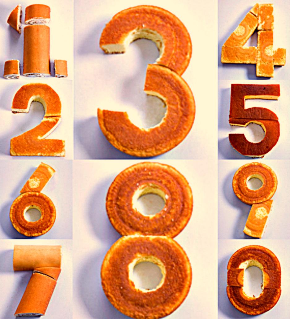 Коржи и рулеты для торта Цифра