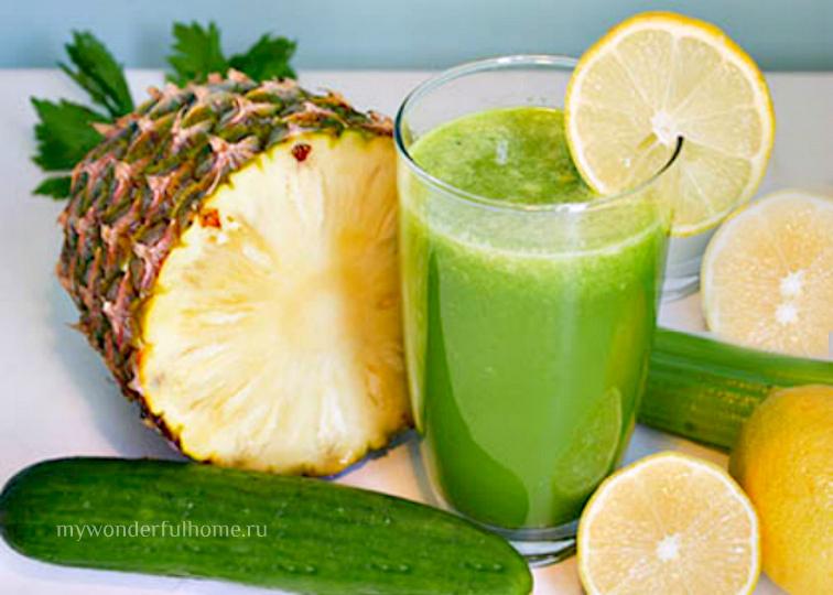 Зеленый смузи Рецепты