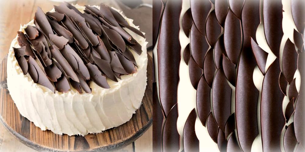Украшение торта: кора из шоколада