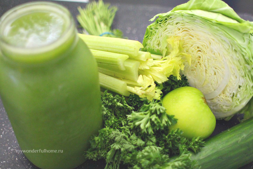 Смузи из капусты и авокадо