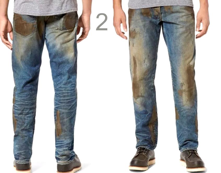 """Модные """"грязные"""" джинсы"""