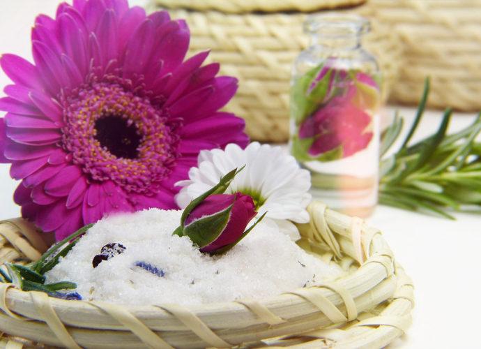 Ароматная цветная соль для ванн