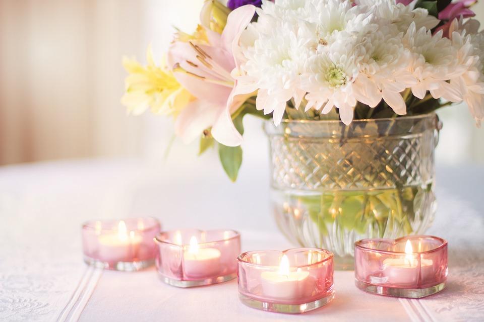 Сервировка Романтический стол