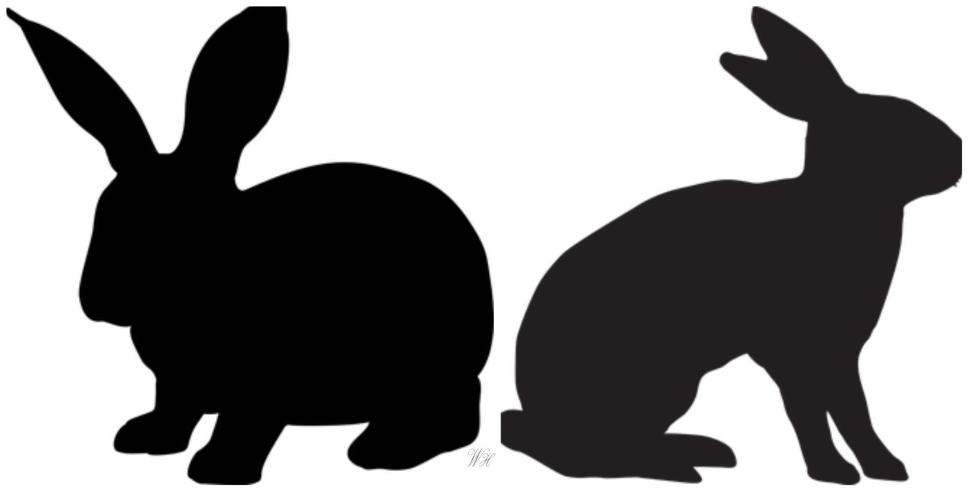 Кролик, заяц: трафареты для пасхальных поделок