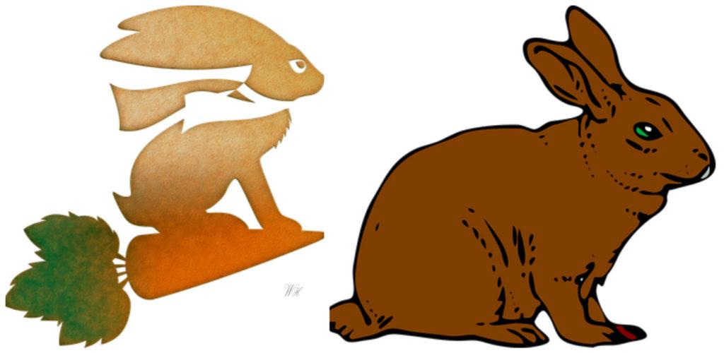 Трафареты: кролик, заяц