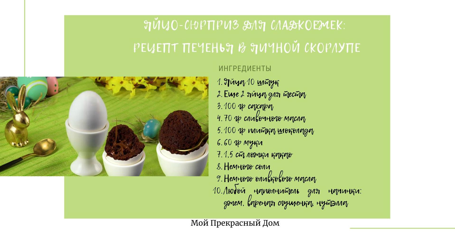 Рецепт печенья на Пасху